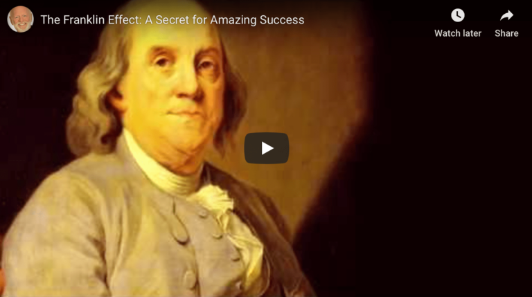 Parallels between the Franklin Effect and Executive Coaching for Success